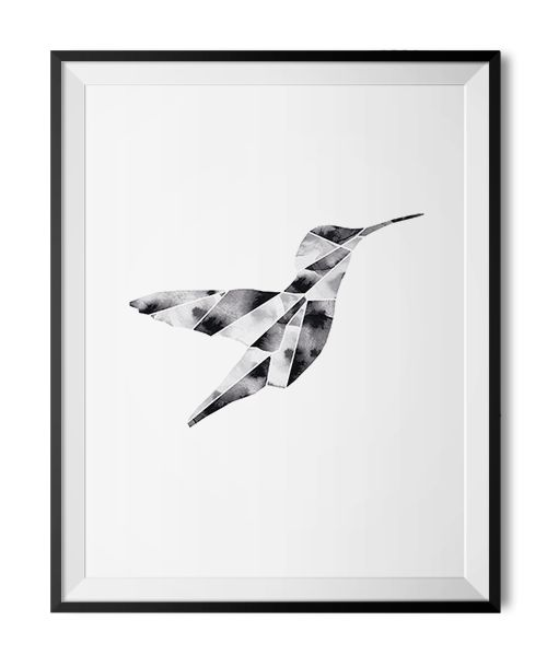 Hummingbird poster by Scandinavian designer Lotta Larsdotter - Nordic Design Collective