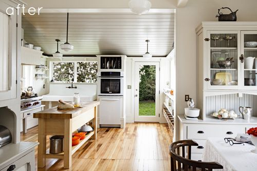 Gorgeous light kitchen that opens out to the garden.: Decor, Kitchens, Interior Design, White Kitchen, Portland, Space, Light