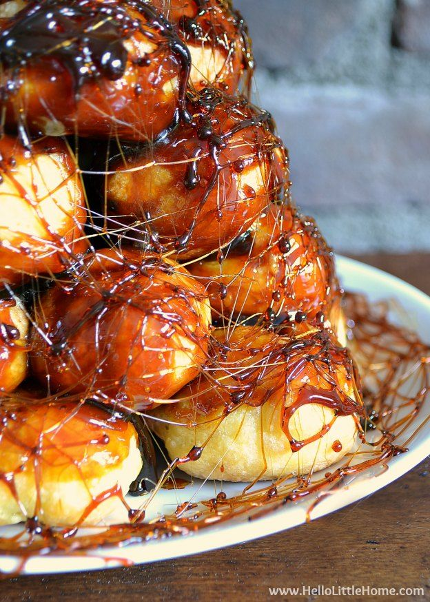 Make this easy Croquembouche recipe for your next special occasion!   Hello Little Home
