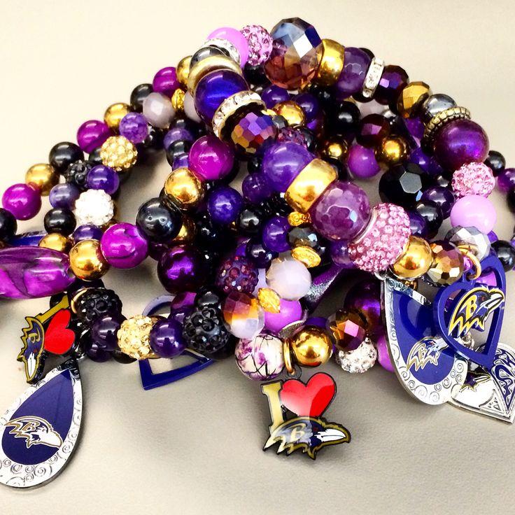 #ravens #bracelets #purple #color #fashion #style #jewelry