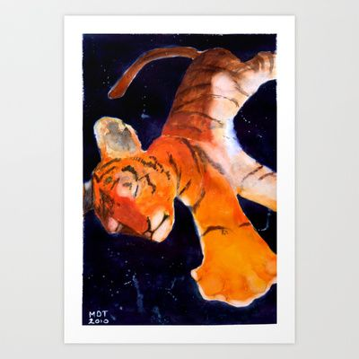 Small Tiger, Big Universe Art Print by Marie D.Tiger - $22.88