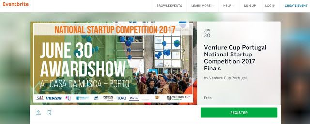 Venture Cup Portugal National Startup Competition 2017 Finals - 30 JUN 2017   Join us in celebrating the very best upcoming Portuguese university startups!    This afternoon will be dedicated to honoring the best upcoming and more established university startups networking with like-minded business people and spending an afternoon broadening your horizon!    As a guest you will be entertained learn something new and meet people who all have an interest in the startup environment!    The…