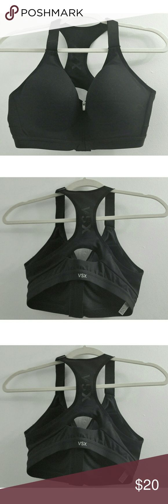 Victoria's Secret VSX Racerback Padded Bra This is a recerback sports bra from Victoria's Secret active VSX line size 36c. In NWOT condition. Very high quality with thick, adjustable straps and padded cups. There is a zipper in the front that is lined with a foamy material for great fit and comfort. Victoria's Secret Intimates & Sleepwear Bras