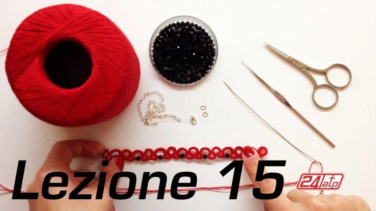 Chiacchierino Ad Ago - 15˚ Lezione Braccialetto Bracciale Con Perline Bi...