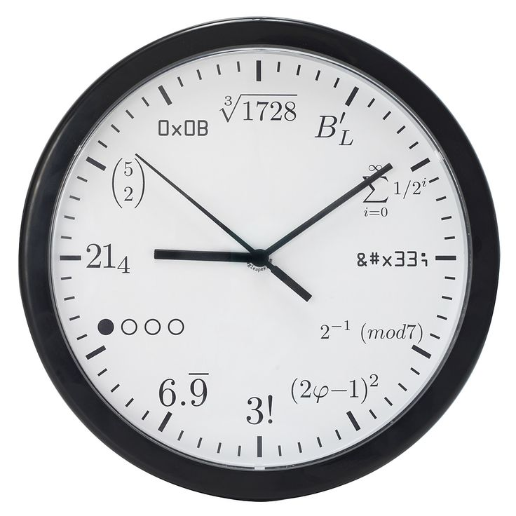 GEEK CLOCK | Math Formula Clock for Geeks | UncommonGoods; I should really get this for my husband...he would understand every number, even though I am clueless!!  Other fun gift ideas on this site too.