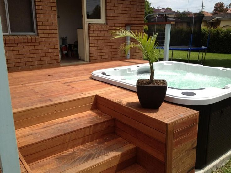 25 best ideas about hot tub deck on pinterest hot tub for Hot tub deck designs plans