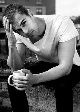 Theo James Shirtless Theo james drinking coffee