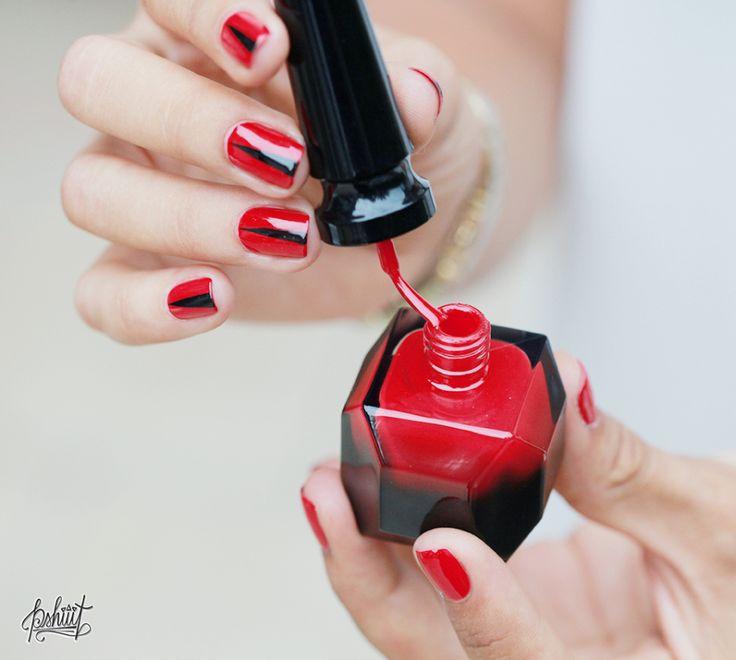 Fabuleux Les 25 meilleures idées de la catégorie Vernis à ongles rouge sur  BI27
