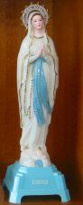 Musical Crowned Virgin Mary Statue luminous 25 cm