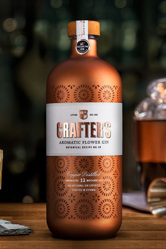 KOOR Packaging design - Crafter's Copper Distilled Gin