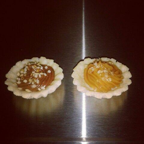 Mini tartaletas con nutella y arequipe