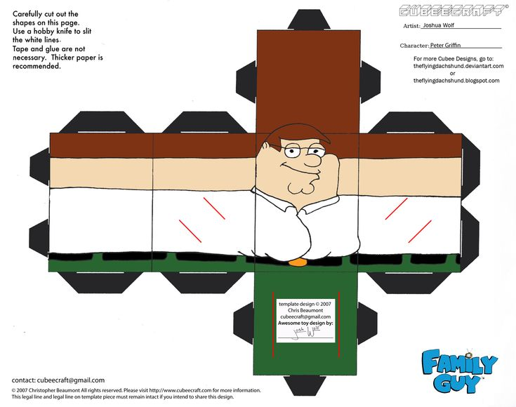 FG1: Peter Griffin Cubee by TheFlyingDachshund.deviantart.com on @deviantART