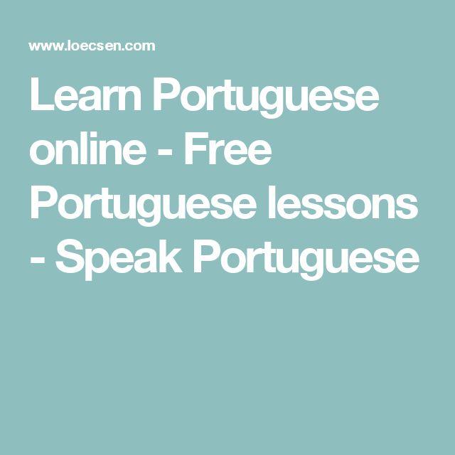 Learn Portuguese online - Free Portuguese lessons - Speak Portuguese