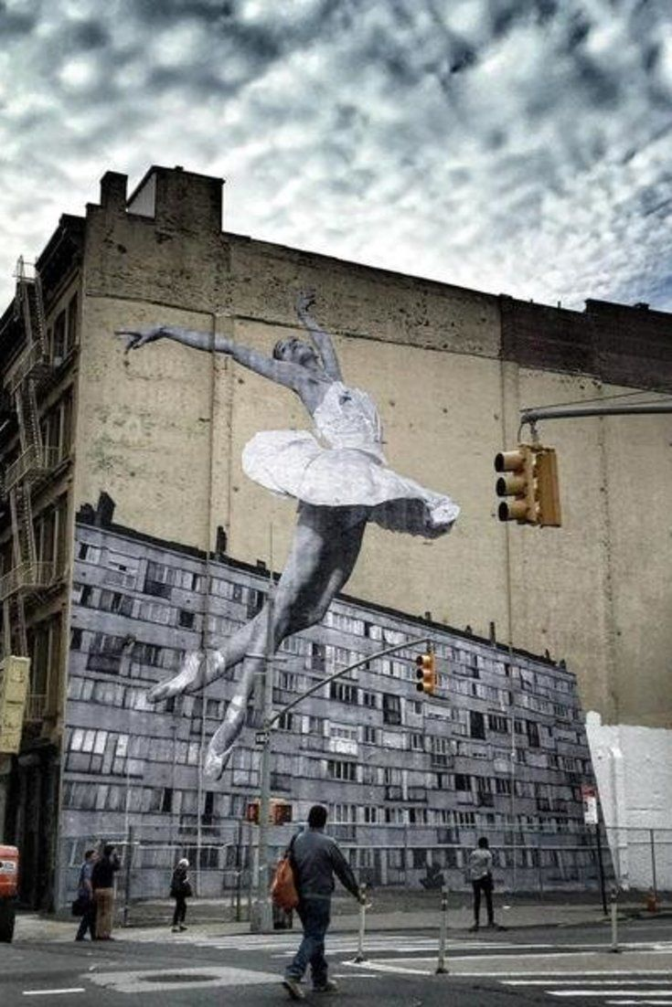 biker leather wallets A 100 Foot Ballerina Is Taking Over New York City