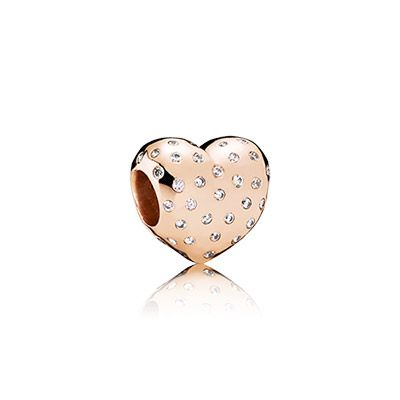 PANDORA | Heart PANDORA Rose charm with cubic zirconia