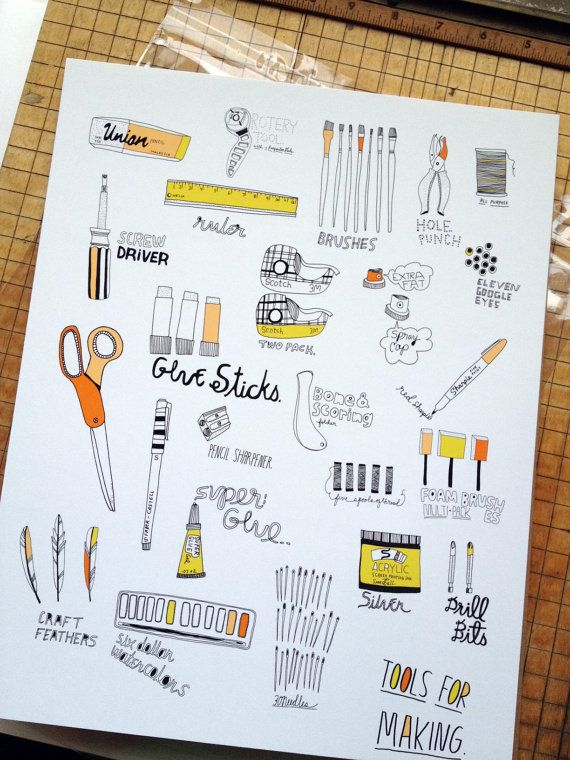 Tools for Making. by kateconsumption on Etsy, $20.00