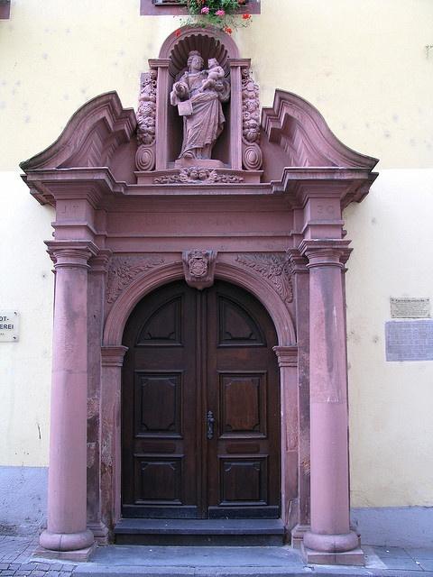 Gorgeous old purple door - Boppard, Germany