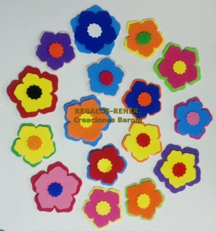 Flores en goma eva formas y figuras flores mariposas - Flore de goma eva ...