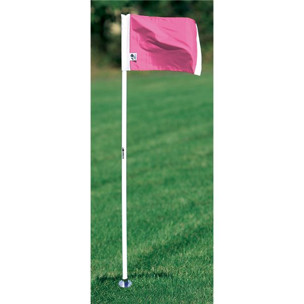 Kwik Goal Pink Official Corner FLags - Set of 4