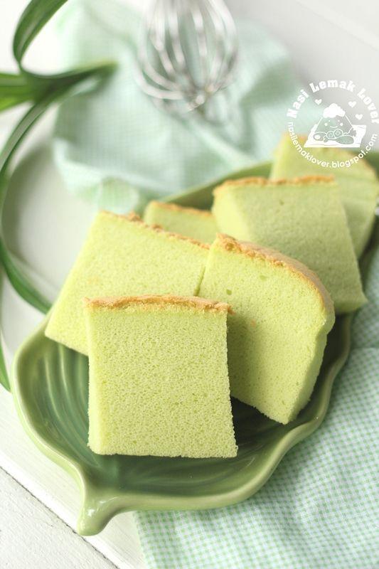 Nasi Lemak Lover: Pandan Coconut Ogura Chiffon Cake 班兰椰奶相思戚风蛋糕