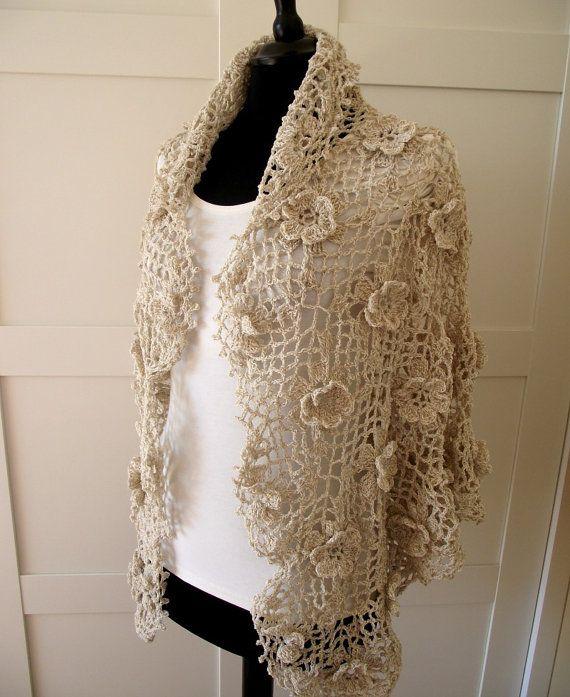 CROCHET PATTERN SHAWL  Josephine Shawl crochet by LiliaCraftParty