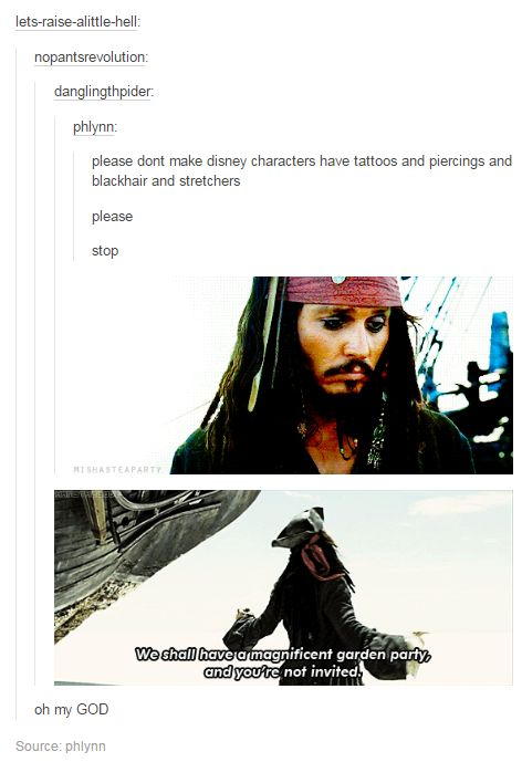 Pirates of the Caribbean tumblr post