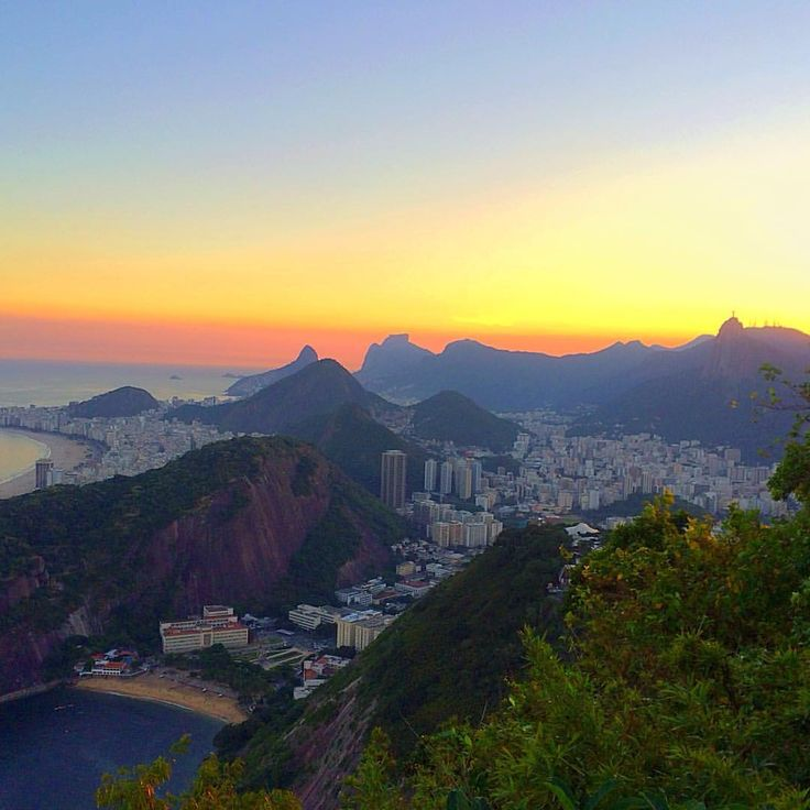 "(@james_spencer_oliver) on Instagram: ""Sunset in rio from the sugarloaf mountain #sunset #rio #riodejaneiro #brazil #southamerica…"""