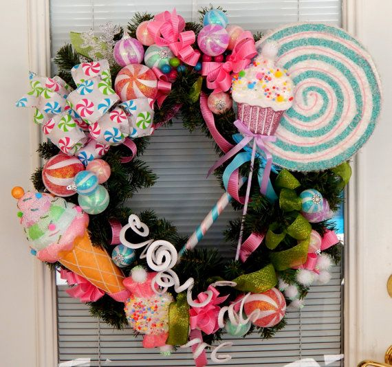 Hey, I found this really awesome Etsy listing at https://www.etsy.com/listing/203495497/christmas-wreath-christmas-candy-sweet