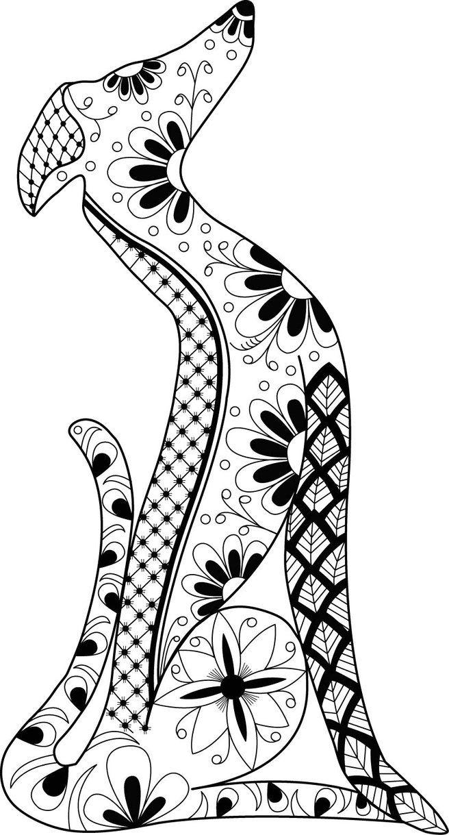 Greyhound Mandala by LotusArtStudio.deviantart.com on @DeviantArt