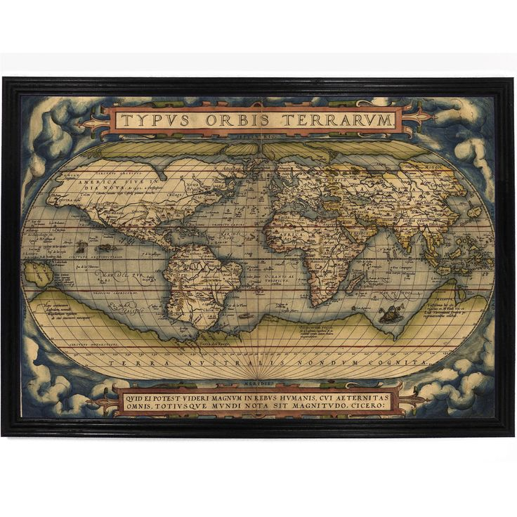 Decorative Map of The World by Abraham