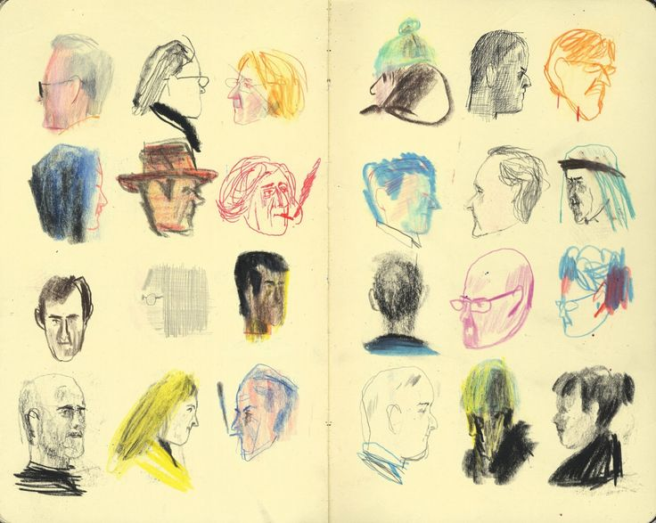 ALONGTIMEALONE: nangirl92: Yann Kebbi's colourful sketchbook...