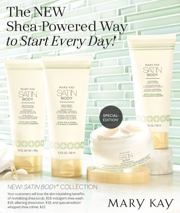 The New Body collection from #MaryKay with a Special Edition Satin Body Whipped Shea to die for!! Message me for your sample Leticia Ha 713-206-5858 or www.marykay.com/Lvha
