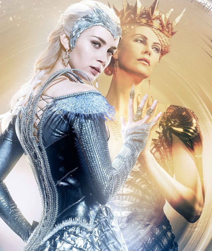 "Emily Blunt plays Charlize Theron's ice queen of a sister in the new trailer for ""The Huntsman: Winter's War""! 