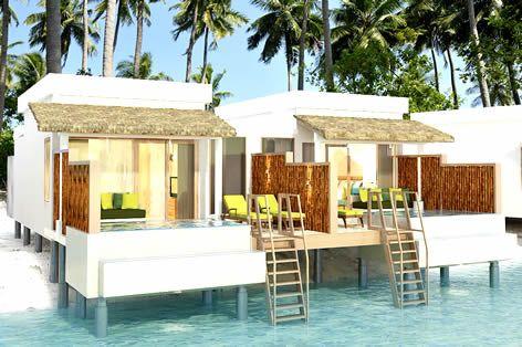美しいハウスリーフとサンドバンクが周りに広がるリゾートに泊まる!モルディブ5日間