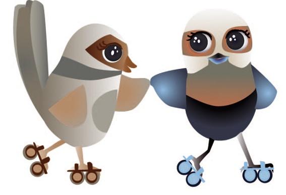 """""""Rollerskating Birds"""" by Lauren Martyn"""