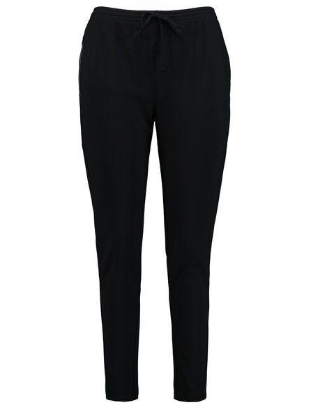 De trendy broek overtuigd chique en sportief tegelijk. Een verfijnde, moderne look met elastische tailleband, decoratief trekkoord, zakken en rits. Co... Bekijk op http://www.grotematenwebshop.nl/product/mooie-sportieve-broek/