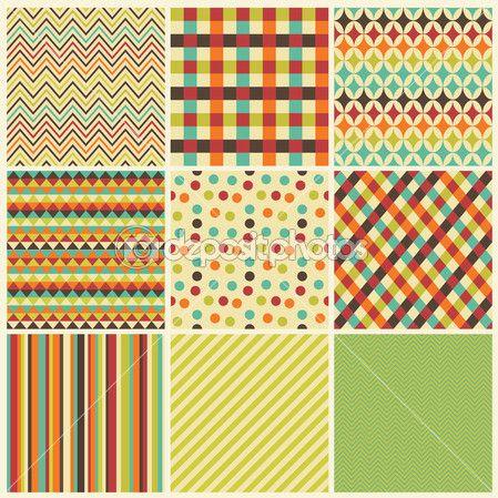 Geométrico sin fisuras de fondo conjunto inconformista — Ilustración de stock #36666937