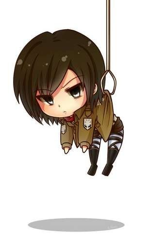 Attack On Titan Cute Wallpaper Cute Mikasa Background From The App Aotfans Snk Attack
