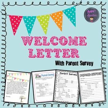 Welcome Letter plus Parent Survey! by Ashley's Goodies | TpT