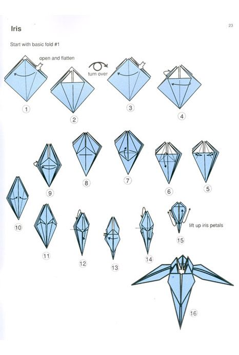 Origami step by step instructions