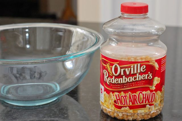 In Michelle's Kitchen: Microwave Popcorn in a Glass Bowl