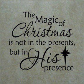 Are you seeking Christmas Presence? Be wise, unwrap, receive and enjoy the greatest present of all - that gift which God has given to all mankind, His blessed Son and our Savior, Jesus Christ. http://youtu.be/D3-T-bm78Xc; http://www.facebook.com/pages/The-Lord-Jesus-Christ/173301249409767