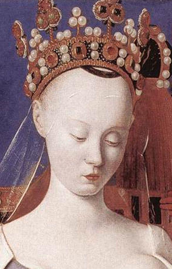 gioielli nei dipinti rinascimentali - Agnès Sorel et Charles VII Cerca con Google