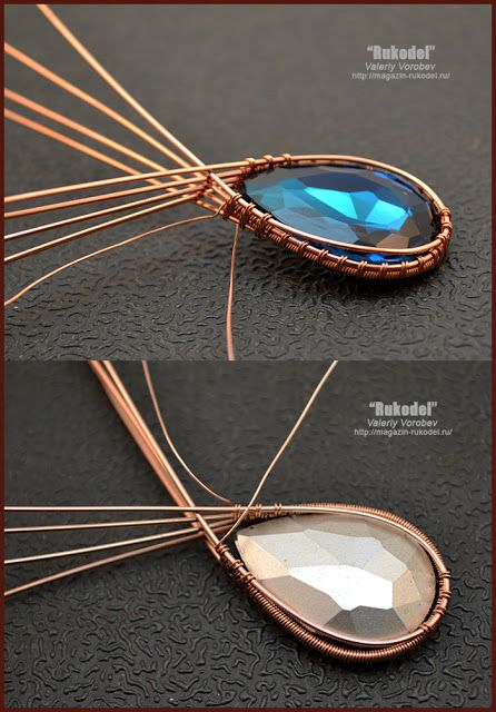 Wire wrap tutorial. Copper wire jewelry.