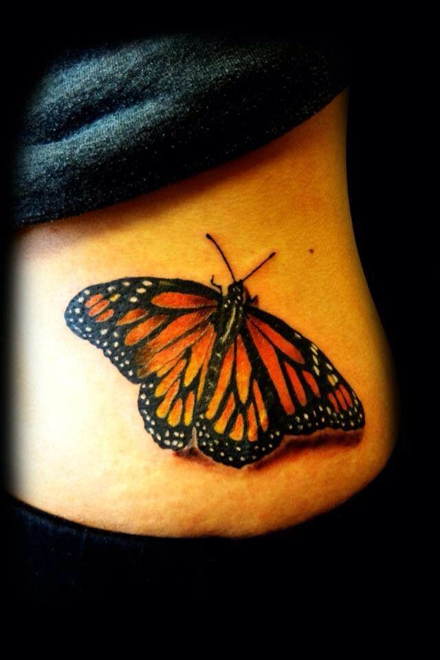 Monarch Butterfly On Flower Tattoo Best 20+ Monarch Butte...