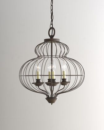 """""""Cage"""" Chandelier at Horchow.: Dining Rooms, Decor Ideas, Cages Chandeliers, Lights Fixtures, House, Chand Traditional, Style Ideas, H6Efv Cages, Dreams Decor"""