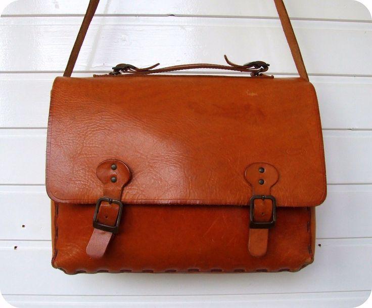 LEDER Schultasche Messenger Lehrer Schultertasche Aktentasche UNI Umhängetasche in Kleidung & Accessoires, Damentaschen   eBay!