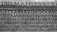 Grafschrift uit het oude Rome