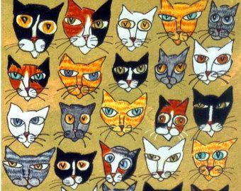 25 Cat Heads 8 X 10 Custom Matted Print