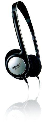 Philips SHP1800 TV- und HiFi-Leichtkopfhörer (6m LR-Kabel, 6,3mm Adapter) schwarz